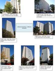 Details of each USC dorm - click below for large version