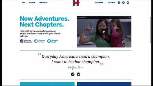 Hillary Clinton announced her presidency through a web video.