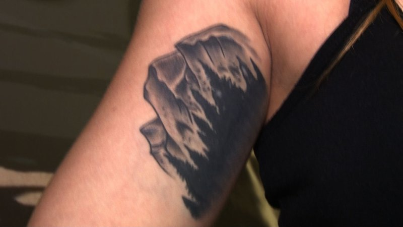 Tattoos such as this one on cadet Christine Gambel could have been a concern, but no longer are.