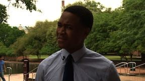 USC Junior Aaron Greene marches to the Statehouse to help be the voice of young adults