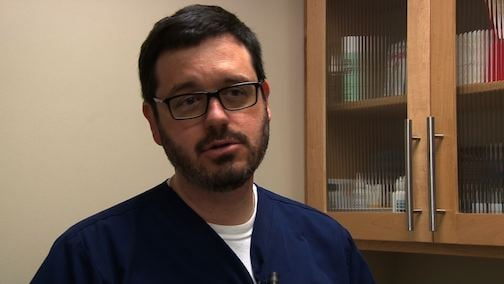 Dr. Michael Murphy says he has not seen any cases of the dog flu in South Carolina.