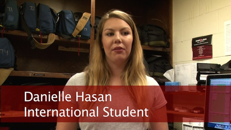 Australian student Danielle Hasan talks about the stress of having to pack up on a schedule right after getting done with finals.