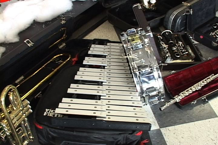 Community members donated these instruments to J.V. Martin Junior High