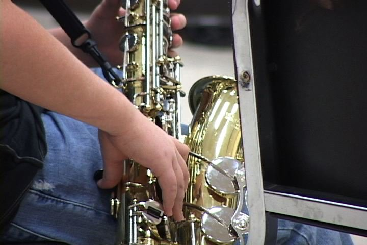 Donated instruments bring music to student's lives.