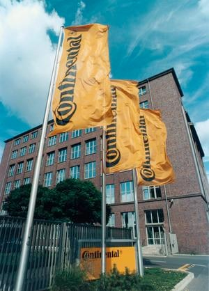 Continental AG global headquarters in Hanover, Germany.