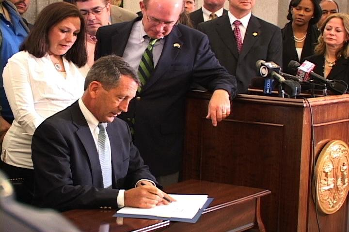 Governor Sanford Signs New DUI Bill