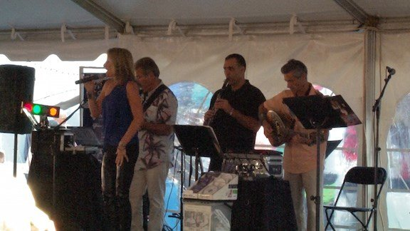 The Nick Trivelas Band prodives authentic Greek music for festival goers to enjoy and dance to