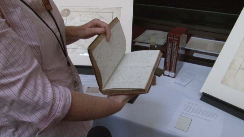 The extensive diary of Civil War Senator wife Mary Chesnut is one of the rare manuscripts housed in the library