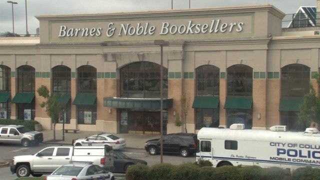 The Barnes and Noble where Officer Alia was gunned down by Jarvis Hall