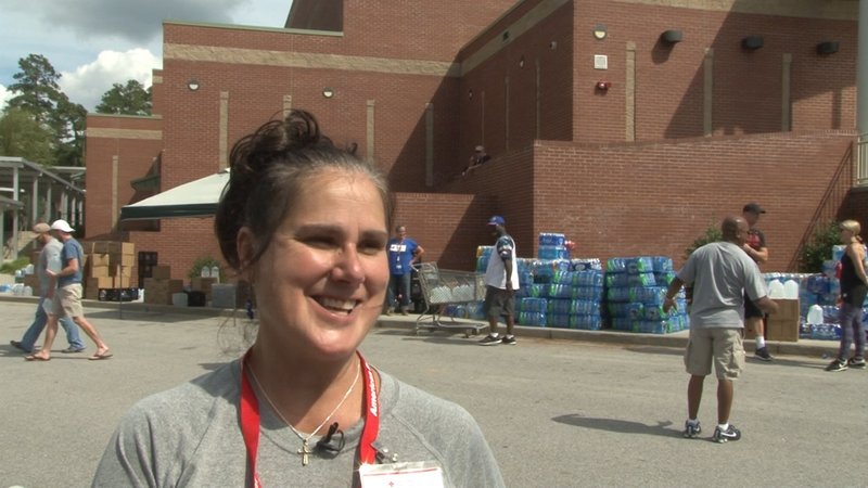 Darlah Egger has seen disaster relief efforts before, but has never seen a community come together like Columbia.