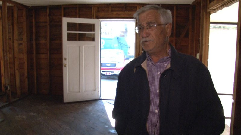 Angelo Stellato was heartbroken to hear his home was destroyed in the historic floods.