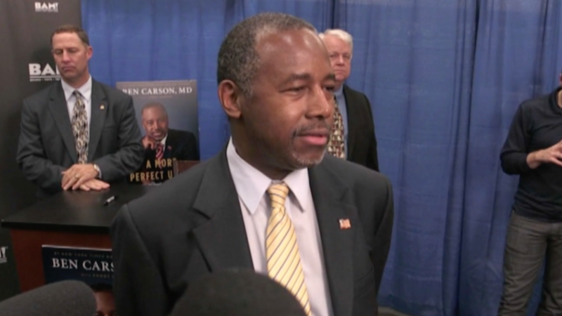 Ben Carson is a retired neurosurgeon and gained political popularity after delivering a widely publicized speech at the 2013 National Prayer Breakfast.