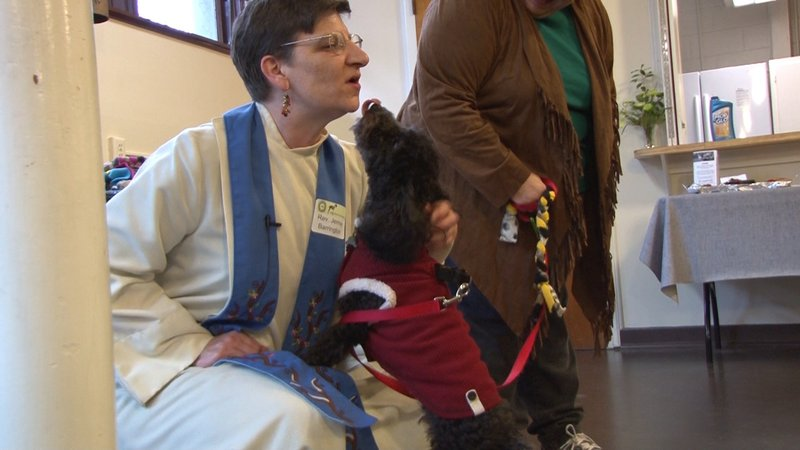 Reverend Jennie Barrington performed the Blessing of the Animals ceremony.