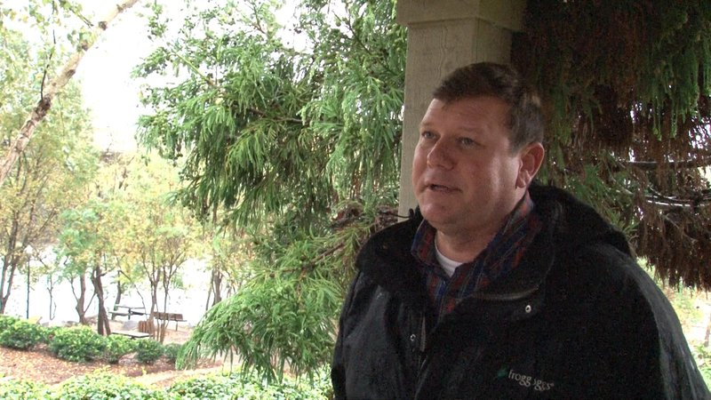 Jamie Hook says that the constant rain has made it difficult to survey the damage from the initial flooding in October.