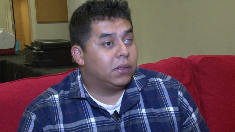 Former Marine Core Stephen Diaz lost his left eye in a roadside bomb in Iraq.