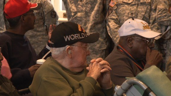 Veterans from all military branches were represented.