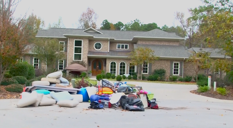 A home inside Kings Grant that was affected by the flooding