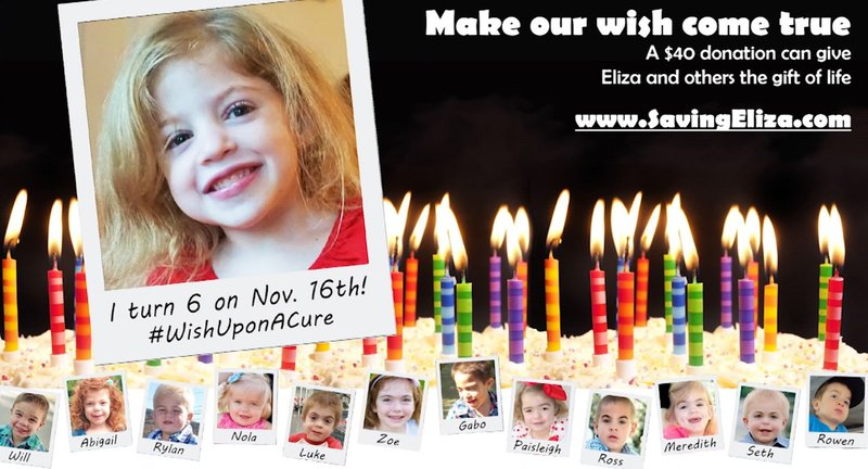 Eliza's family is trying to raise an extra $85,000 to help reach their goal. You can donate at SavingEliza.com.