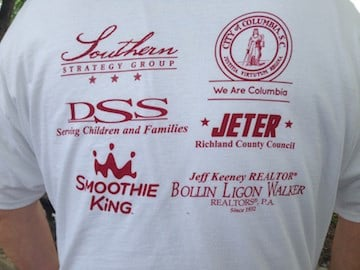 T-shirts were made for the runners who participated in the race.
