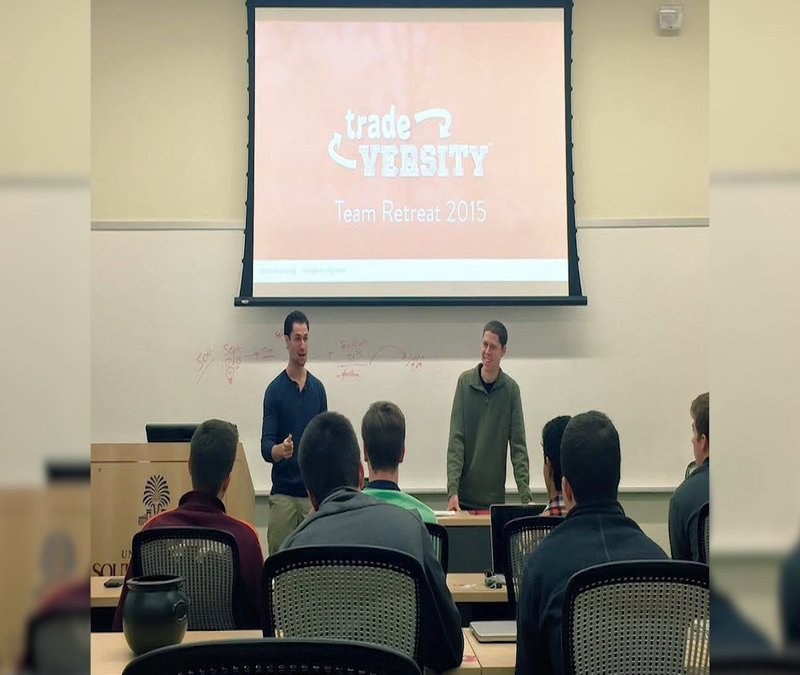 Mike and his brother and co-founder of Tradeversity, Evan.