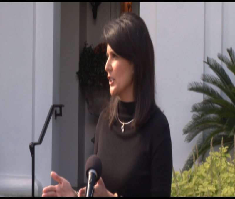 Nikki Haley answering questions about the refugees possibly coming to SC.