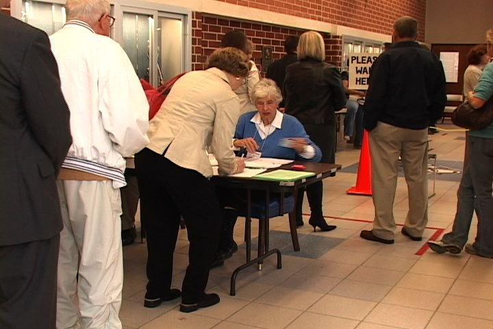 Dreher High School polling place was just one of the spots where long lines were the norm.