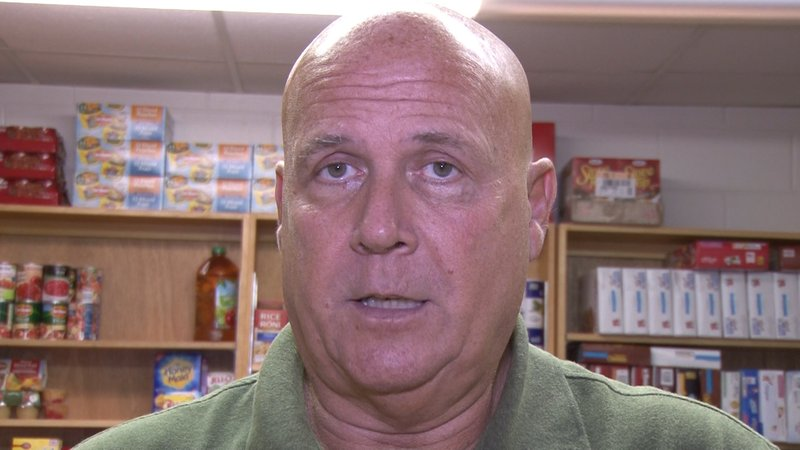 Fred Schulz talks about being able to help people through the food pantry.