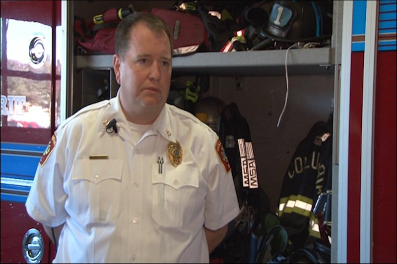 Fire Captain Brick Lewis says that using a space heater should be a last resort to stay warm.