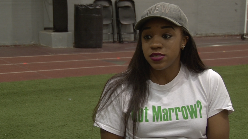 Ahty Johnson hopes to bring awareness to the lack of African- American bone marrow donors.