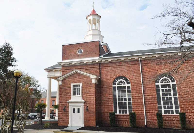 """By Colin Demarest: The """"No Greater Faith: The Legacy of Mother Emanuel AME Church"""" event was held inside Antisdel Chapel on the Benedict College campus Tuesday afternoon. The chapel quickly filled and overflow crowded the campus' gymnasium."""