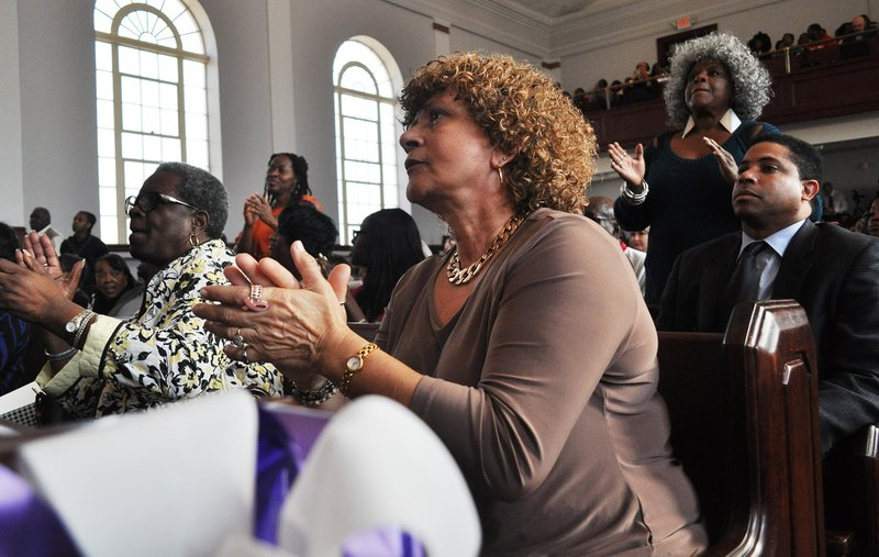 By Colin Demarest: An emotionally charged crowd filled Antisdel Chapel Tuesday afternoon singing and praising the lives lost in the Emanuel AME shooting in Charleston on June 17.