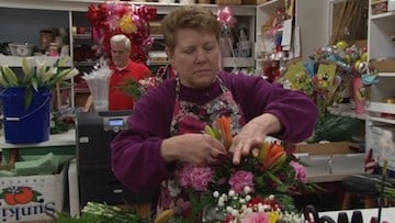 DeLoache flower shop has been receiving Valentine's Day orders for the past two weeks.