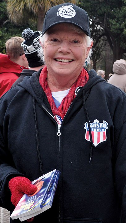 Clarice Smalley attended the rally as a Dr. Ben Carson supporter. As a Carson supporter, Smalley said both Hillary Clinton and Bernie Sanders are dishonest in their messages.