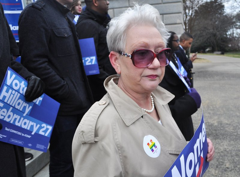 Gloria Wilson has volunteered with the Clinton campaign since last September. She is a strong supporter who believes Clinton will carry South Carolina. (photo by Colin Demarest)