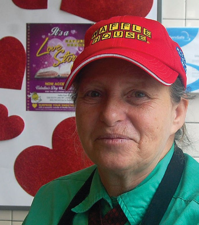 Dianne Lee, Waffle House manager, likes to do something special and see the smiles on peoples faces.