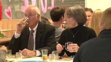 Couples and singles enjoyed their beer and chocolate samples