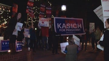 John Kasich supporters came out in full voice.
