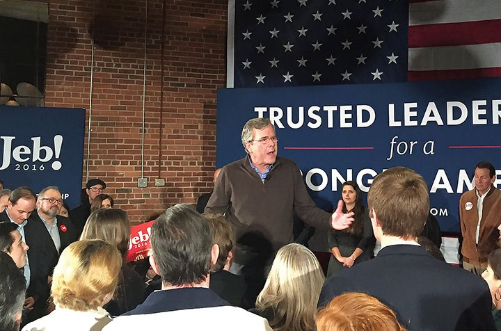 Jeb Bush elaborated on his strengths as a presidential candidate and his determination for a national security at his campaign rally in Columbia Thursday evening.