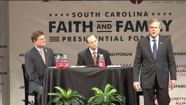 Former Florida Gov. Jeb Bush was not afraid to talk about how he relies on his faith to make the tough decisions.