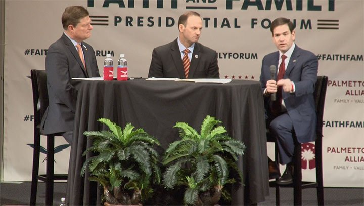 Florida Sen. Marco Rubio made a point to say our rights ultimately come from God.