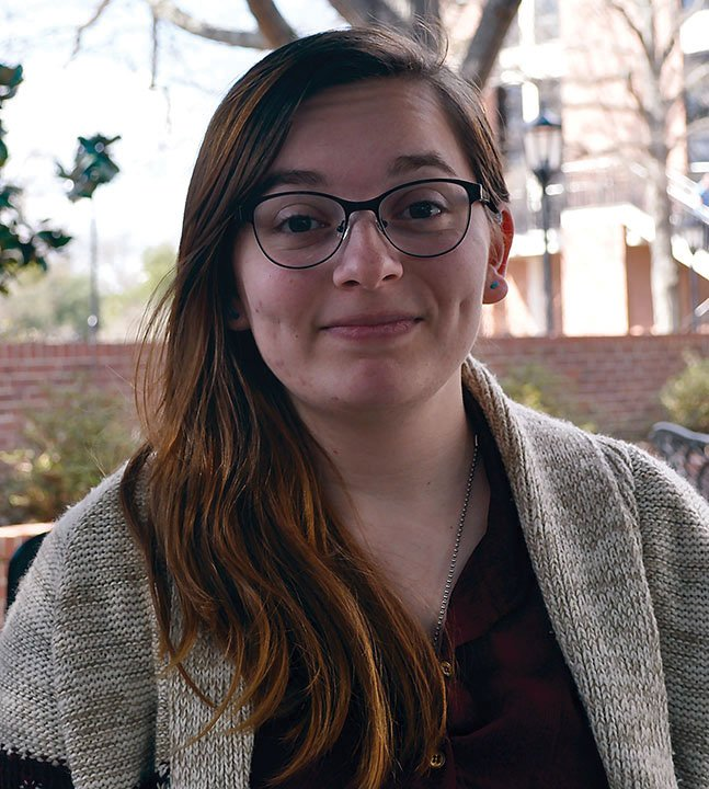 Kelsey Hearn is a 21-year-old USC student that has never participated in political polls. She says she won't be voting in the primaries because she doesn't know enought about the candidates, and it's important to be informed in order to vote.