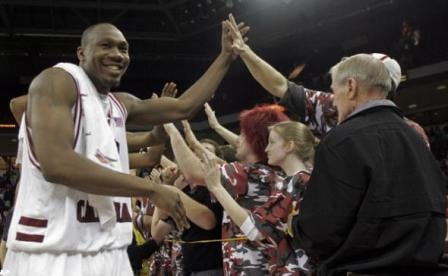 Mike Holmes and the Gamecocks might be heading for the NCAA tournament, but the team knows it still has three big SEC games left.