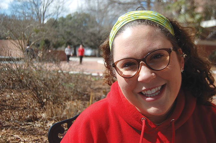USC Junior, Jamie Clark said it was convenient to attend presidential candidate Bernie Sanders event at the Russell House theater on the University of South Carolina's campus on Feb. 16.