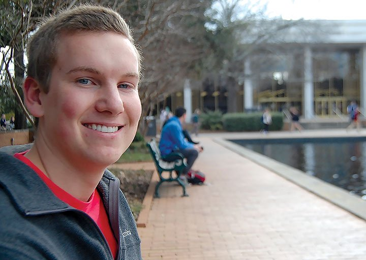 Trevor Cox went to see Marco Rubio last August with friends at USC's Russell House theater. Cox thinks the rallies on and off campus are good opportunities for students to learn about presidential candidates.