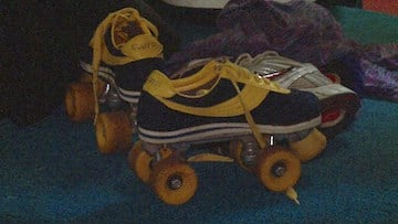 Roller Derby requires competitors use 2 by 2 wheeled skates.