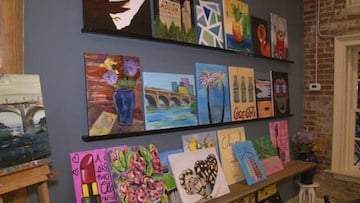 Customers can leave their masterpieces at the bar or take them home.