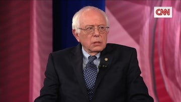Sen. Sanders highlights his involvement in the Civil Rights movement.