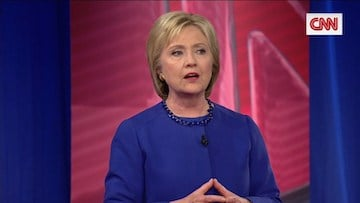 Clinton talks about racial tensions in America.
