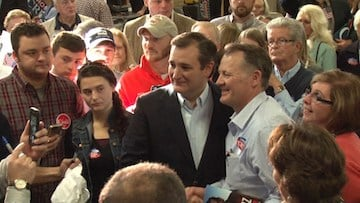 Sen. Ted Cruz met with veterans for about 30 minutes after the rally.