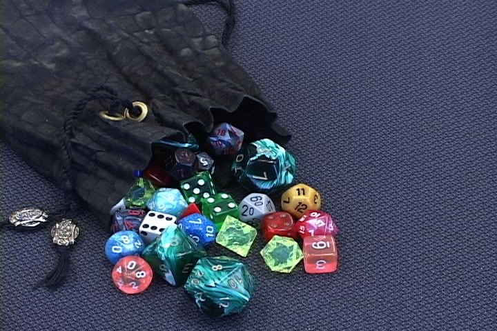 Dungeons and Dragons includes a number of dice for game play.
